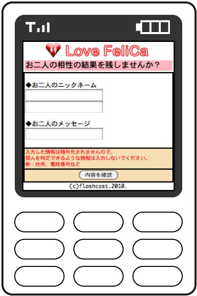 メッセージ入力画面
